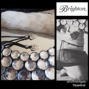 NWOT Brighton Vintage Braided Black Leather Belt